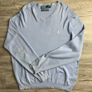 Polo By Ralph Lauren Pastel Blue Pullover Sweater